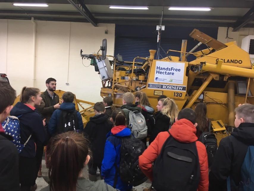 School Farming Society visits Harper Adams University