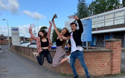 Thomas Adams celebrates excellent A Level results