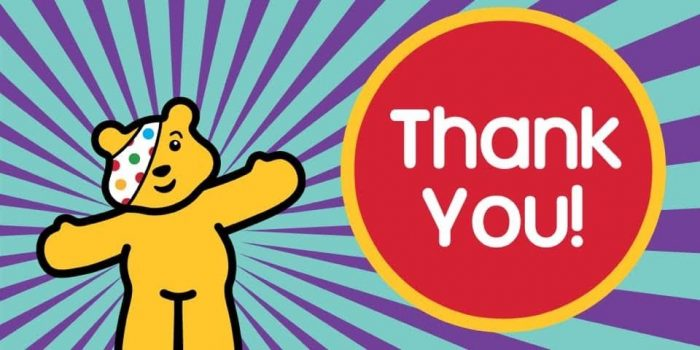Thomas Adams supports BBC Children in Need & Young Minds Charities