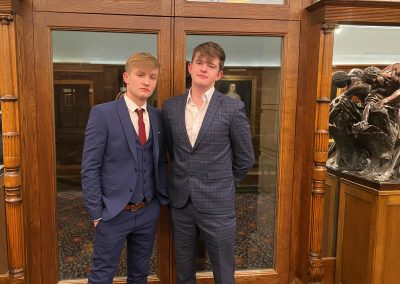 Two Sixth Form Business students at Drapers Hall in London