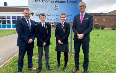 Exciting times ahead for Thomas Adams School