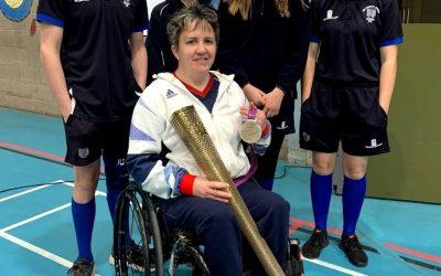 Paralympic Archer, Mel Clarke, visits school