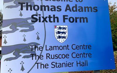 Thomas Adams celebrates A Level results