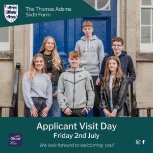 Thomas Adams Sixth Form Applicant Visit Day